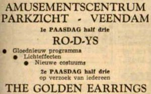Golden Earring show ad May 11, 1968 Nieuwkoop - Dancing Spiero